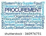 procurement word cloud on white ... | Shutterstock . vector #360976751