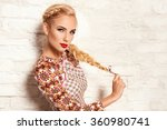 beautiful young blonde woman in ... | Shutterstock . vector #360980741
