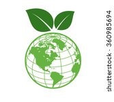 earth day icon isolated on...   Shutterstock .eps vector #360985694