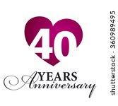 40 years anniversary white... | Shutterstock .eps vector #360989495