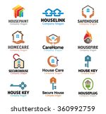 house and security real estate... | Shutterstock .eps vector #360992759