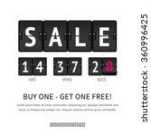 sale. black flip clock with... | Shutterstock .eps vector #360996425
