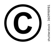 copyright symbol icon. isolated ... | Shutterstock .eps vector #360998981