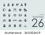 set of buddhism icons | Shutterstock .eps vector #361003619