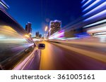blurred urban look of the car... | Shutterstock . vector #361005161