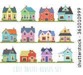 big set of twelve vector... | Shutterstock .eps vector #361010999
