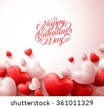 happy valentines day background ... | Shutterstock .eps vector #361011329