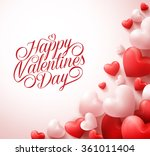 happy valentines day greetings... | Shutterstock .eps vector #361011404