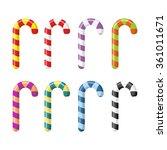 set candy cane. christmas... | Shutterstock . vector #361011671
