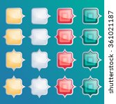 square buttons set  app icons... | Shutterstock .eps vector #361021187
