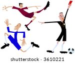soccer players and referee... | Shutterstock .eps vector #3610221