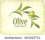 olive branch on old background | Shutterstock .eps vector #361022711