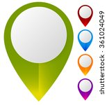 map marker  map pin set.... | Shutterstock .eps vector #361024049