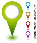 map marker  map pin set.... | Shutterstock .eps vector #361024079