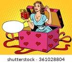 valentine girl love romantic... | Shutterstock .eps vector #361028804