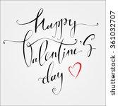 happy valentines day vintage... | Shutterstock .eps vector #361032707