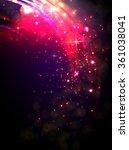 shining magenta bokeh... | Shutterstock .eps vector #361038041