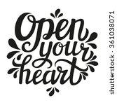hand lettering typography... | Shutterstock .eps vector #361038071