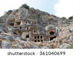 the ruins of the ancient lycian ... | Shutterstock . vector #361040699