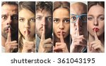 be silent | Shutterstock . vector #361043195