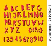 abc latin letters and numbers