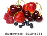 strawberry  cherry  raspberry... | Shutterstock . vector #361046351