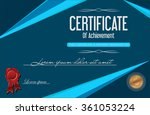 certificate or diploma template | Shutterstock .eps vector #361053224