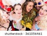 women and men celebrating at... | Shutterstock . vector #361056461