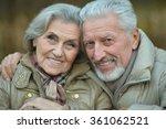 mature couple walking | Shutterstock . vector #361062521