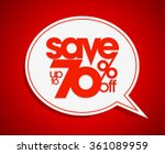sale coupon design save up to... | Shutterstock .eps vector #361089959