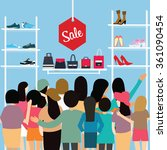 people crowd store sale... | Shutterstock .eps vector #361090454