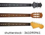 Set Of Guitar Neck Fretboard...