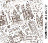 winter vector.london landmark ... | Shutterstock .eps vector #361102049
