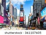 new york  usa   oct 7  2015 ... | Shutterstock . vector #361107605