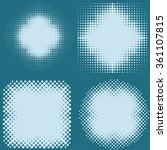 spotted flash  dots halftone... | Shutterstock .eps vector #361107815