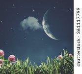 summer night. abstract natural... | Shutterstock . vector #361117799