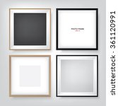 photo frame set. vector photo... | Shutterstock .eps vector #361120991