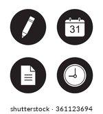 time management icons set....