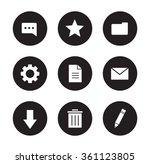 digital icons set. user...