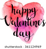 valentines day calligraphy on... | Shutterstock .eps vector #361124969