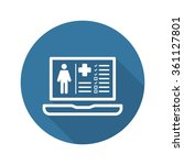 patient medical record icon... | Shutterstock .eps vector #361127801