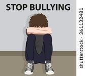 stop bullying kids bully victim ...   Shutterstock .eps vector #361132481