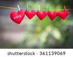 love hearts nature background | Shutterstock . vector #361139069