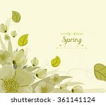 floral background  spring theme ...   Shutterstock . vector #361141124