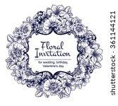 romantic invitation. wedding ... | Shutterstock .eps vector #361144121