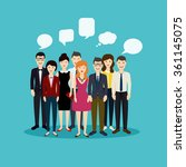 business people and business... | Shutterstock .eps vector #361145075