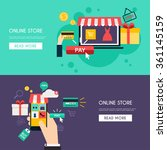 concept online shopping and e... | Shutterstock .eps vector #361145159
