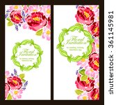 set of floral banners | Shutterstock .eps vector #361145981