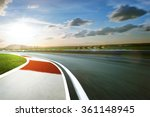 motion blurred racetrack cold... | Shutterstock . vector #361148945