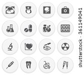 medicine black icons with... | Shutterstock .eps vector #361149041
